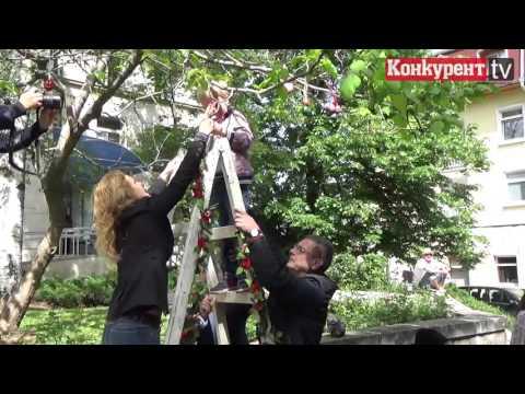 Деца и кмет закичиха дръвче с перашки във Враца