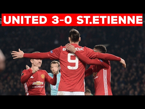 MANCHESTER UNITED 3-0 ST.ETIENNE | IBRAHIMOVIC HAT-TRICK SEALS IT!