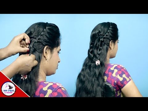 2 Last Minute Hairstyles For Party/Marriage/workSide BraidCurly HairstylesHairstyles and Fashions