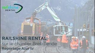 Une pelle rail-route Railshine Rental sur la frontière italienne
