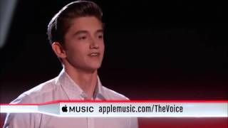 Fifteen-year-old Chance Peña sings 'I See Fire' - The Voice 2015 - Blind Audition