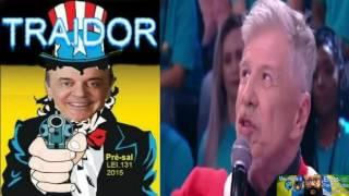Miguel Falabella, manda letra Michel Temer é um traidor art. 171 e classe política quadrilha de traidores, ladrões 171 enganadores da nação e destruidores do ...