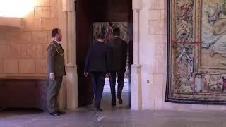 S.M. el Rey recibe en audiencia al alcalde de Palma, José Francisco Hila