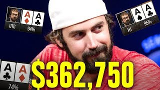 Video He Gets Pocket Aces THREE TIMES!!!  High Stakes Poker Game MP3, 3GP, MP4, WEBM, AVI, FLV Januari 2019