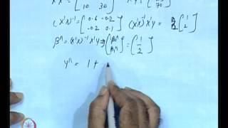 Mod-01 Lec-19 Matrix Approach To Econometric Modelling (Contd.)