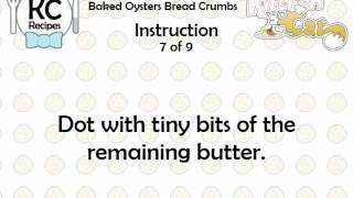 KC Baked Oysters Bread Crumbs YouTube video
