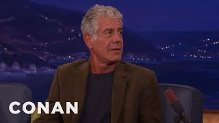 The Saddest Meal Anthony Bourdain Ever Ate  - CONAN on TBS
