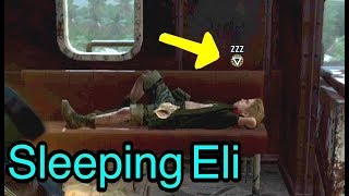 Eli falls asleep naturally in the game Metal Gear Solid V: The Phantom Pain during Mission 23 (The White Mamba). if you wait for ...