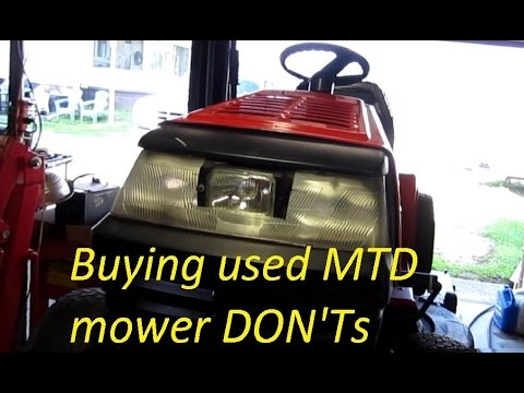 Buying Used MTD Mower DON'TS
