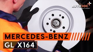 How to replace / change / install / replacement front brake discs / brake rotors / disc brakes and brake pads on MERCEDES-BENZ ...