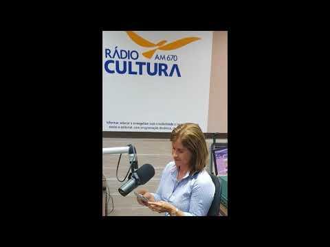 Entrevista do Sindat na Radio Cultura AM concedida pela dirigente Célia Lessa.