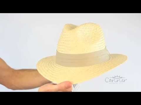 Crockett Mens Palm Straw Golf Hat SKU# F1093 M