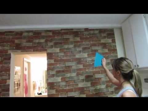 Imagens de papel de parede - Colocando o Papel de Parede em Casa