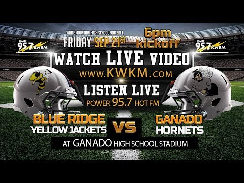 Blue Ridge Yellow Jackets Vs Ganado Hornets September 21, 2018