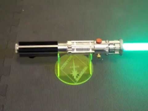 Sapphire Lightsaber with LED String blade