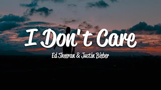 Video Ed Sheeran & Justin Bieber - I Don't Care (Lyrics) MP3, 3GP, MP4, WEBM, AVI, FLV Mei 2019