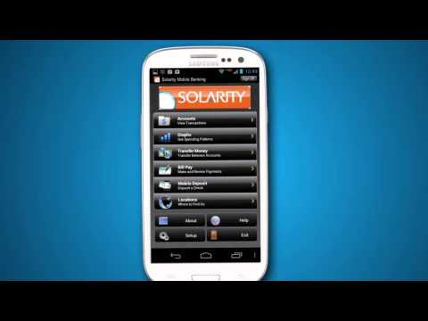 Video of Solarity Mobile Banking