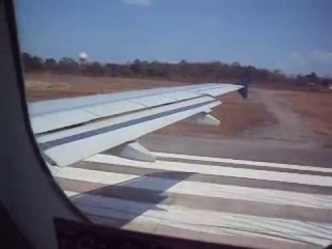 Decolagem em São luis destino a  Brasilia. Marco no Aviao da Tam a319 voo (jj3183)