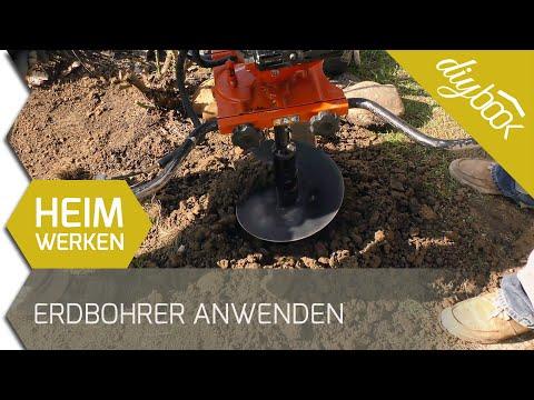 Löcher für Zaunpfosten bohren - Der Umgang mit dem Erdlochbohrer