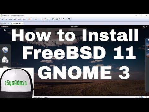 Video How to Install FreeBSD 11 + GNOME 3 + Apps + VMware Tools + Review on VMware Workstation [HD] download in MP3, 3GP, MP4, WEBM, AVI, FLV January 2017