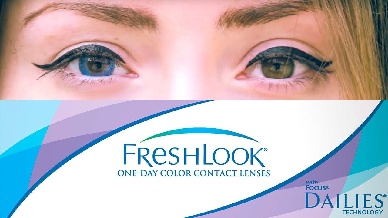Цветные линзы для карих глаз. FreshLook ColorBlends True Sapphire/ВЫПУСК #1