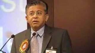 Dr Anil Shah speaking on public-private partnership