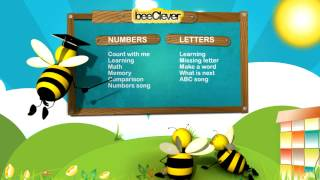 beeClever Letters and Numbers YouTube video