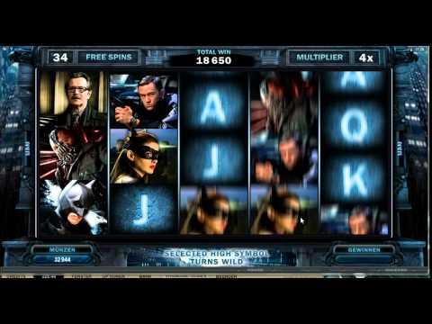 The Dark Knight Rises Slot - Extra Wild Blast with 4x Multipler - Mega Big Win (304xBet)