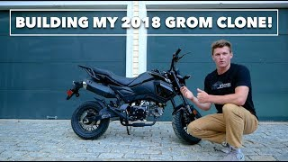 9. BUILDING MY NEW BIKE // 2018 Honda Grom Clone