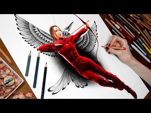 Drawing Katniss - The Hunger Games: Mockingjay - Part 2