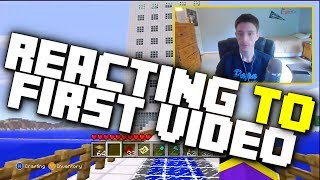 Reacting to My First Minecraft Video! 5 Years Later!