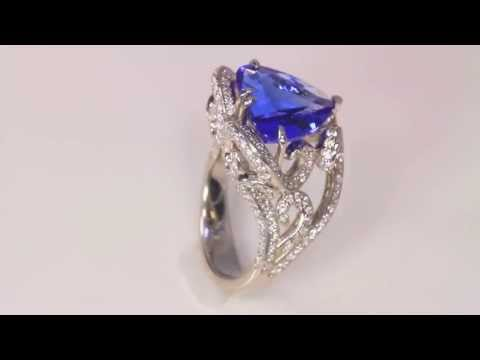 Heart Tanzanite Ring