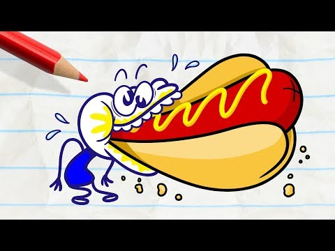 Pencilmate is So Stuffed!  -in- MOODY FOODY - Pencilmation Compilation