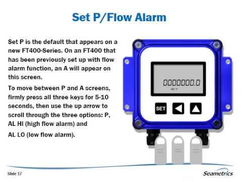 How to Change Settings on the Seametrics FT400-Series