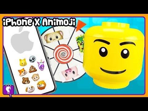 Play doh - Mystery iPhone X ANIMOJI Character Build with GIANT Play-Doh LEGO by HobbyKidsTV