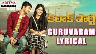 Guruvaram Song Lyrics from Kirrak Party - Nikhil