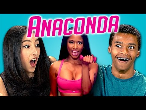 reactions - Nicki Minaj - Anaconda Bonus video on the REACT channel: http://goo.gl/wJSK4n Support TheFineBros channel! Get FREE ANIME! http://crunchyroll.com/FineBros & ...
