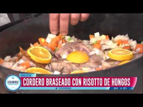 Cordero braseado con risotto de hongos