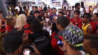 Torcida apoia o Sport no embarque para São Paulo! #AeroSport