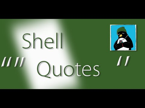Linux shell quotes