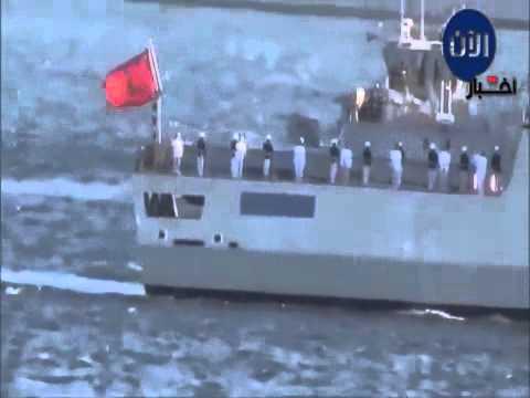 سفن حربية اسبانية ترسو علي شواطئ المغرب
