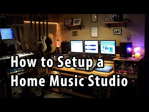 How to Setup a Home Music Studio