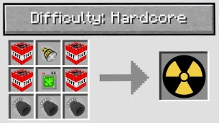 """Minecraft WAR but with """"Hardcore Mode"""" difficulty.."""