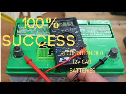 Reconditioning A 12 Volt Car Battery: 100% Success