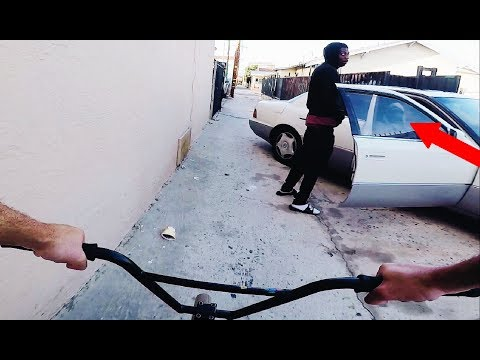 Riding Bmx In Lb Compton Gang Zones 2 (bmx In The Hood)