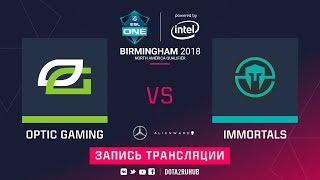 OpTic vs Immortals, ESL One Birmingham NA qual, game 1 [Lum1Sit]