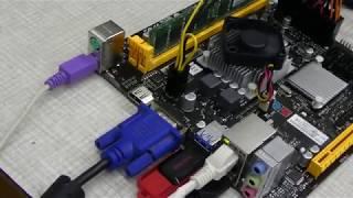Biostar A68N5745+Dc 12v 250 W mini pico psu atx+Gmac Linux teszt, egy hangtalan de erős és kis fogyasztású pc építése lenne a cél.
