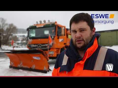Schneeräumung rund um Wiesbaden: Schnee und Glätte fü ...