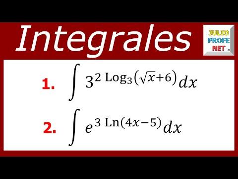 Integrales directas con expresiones exponenciales en el integrando