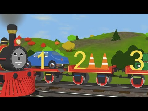 train - Very educational and funny cartoon about Shawn the train who teaches numbers (and counting) and objects that are on his wagons. (Mentioning each number four ...